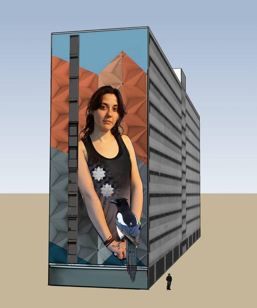 Ontwerp voor de muurschildering van de Renne-flat (Michel Velt)